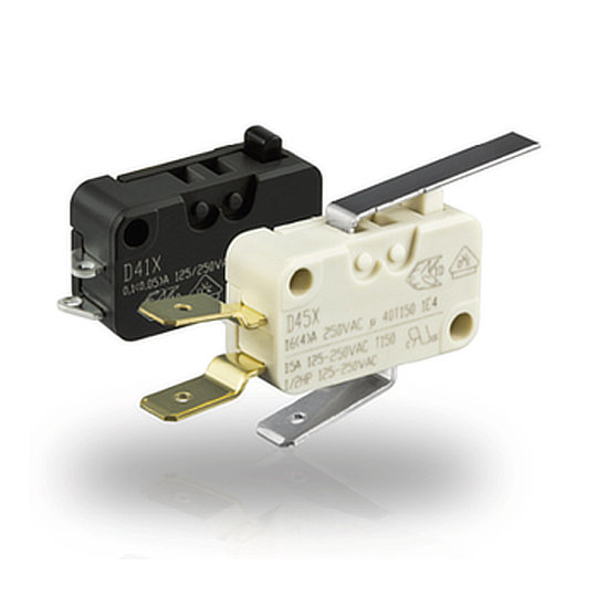 D4 Series – Miniature Microswitches