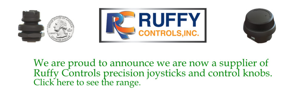 We are proud to announce we are now a supplier of Ruffy Controls precision joysticks and control knobs. Click here to see the range.